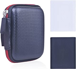 Samsung T1/T3/T5 シリーズ SSD 専用 収納 保護 EVAケース&外付け シリコンケース シリコン保護カバー ポータブル 防震/防塵/防衝撃/耐圧力 (EVAケース1)