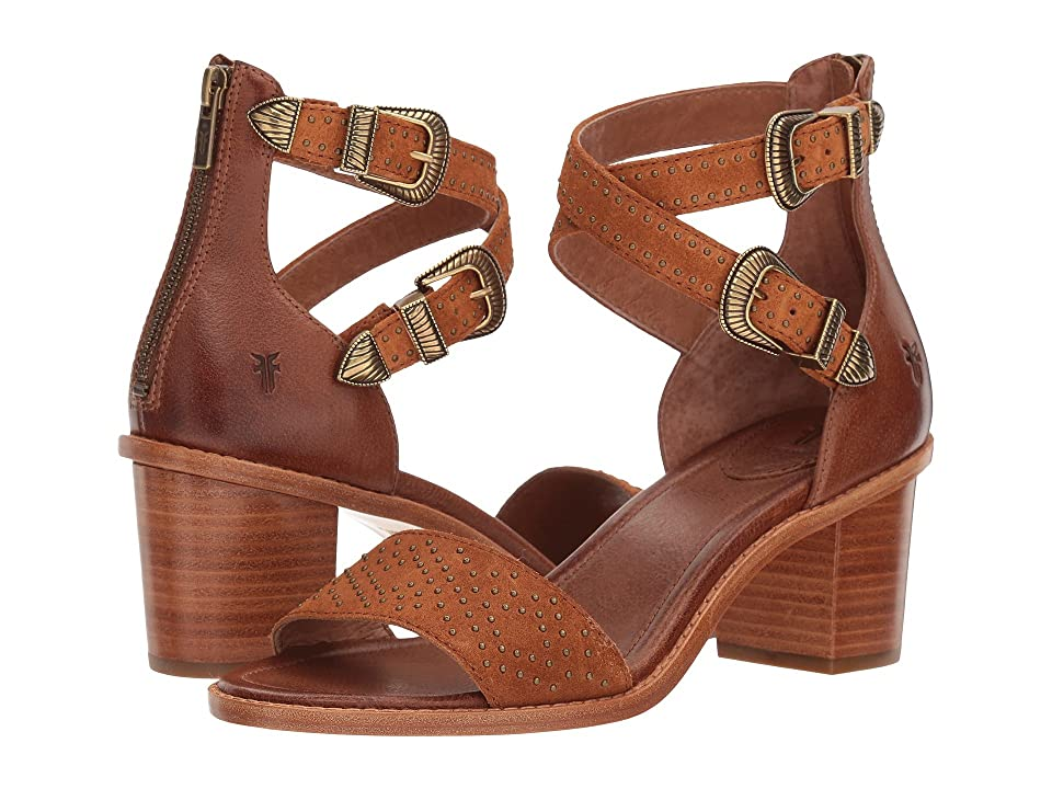 Frye Brielle Western Two-Piece (Nutmeg Oiled Suede/Tumbled Buffalo) Women
