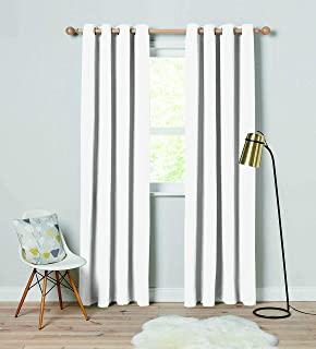 Sponsored Ad - JODY CLARKE Thermal Woven Blackout Curtains for Living Room Panels Sound Dampening Curtains Grommet Solid D...