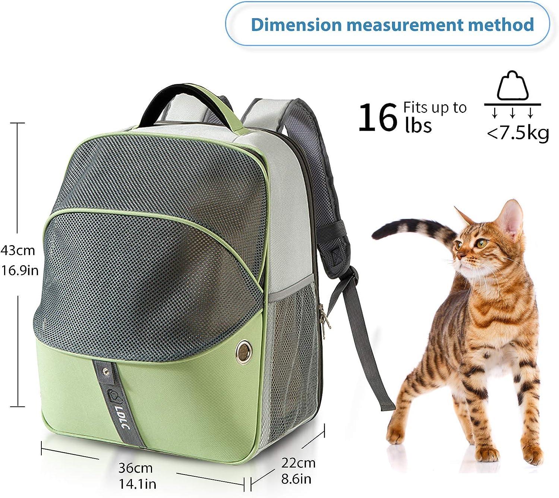 PETCUTE Mochila Perro Peque/ños Bolsa para Transportar Gatos Mochila Mascotas Transpirable Viaje Mochila para Llevar Perros Gato Azul
