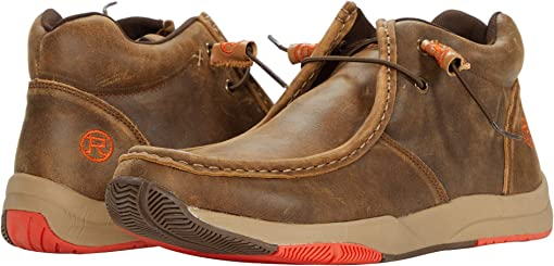 Tan Distressed Leather Upper