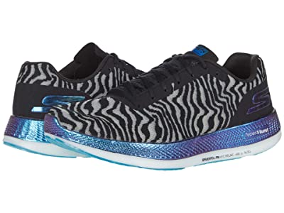 SKECHERS Go Run Razor 3 Cloak (Black/Blue) Men