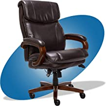 product image for La-Z-Boy Trafford Big and Tall Executive Office Chair with AIR Technology, High Back Ergonomic Lumbar Support, Brown Bonded Leather