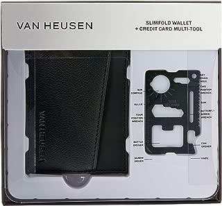 Van Heusen Men's Wallet & Tool Gift Pack, Brown, One Size