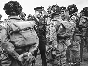 War WWII USA Eisenhower D-Day Paratroopers 1944 Photo Large Wall Art Poster Print Thick Paper 18X24 Inch