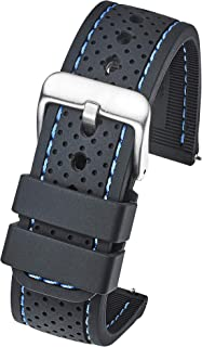 Alpine Premium Quality Waterproof Silicone Watch Band Strap with Quick Release – Soft Rubber Watch Band, Assorted Colors - 20mm, 22mm, 24mm