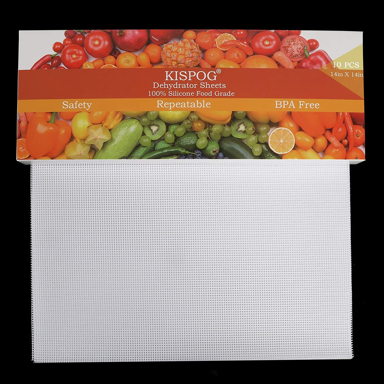 5 ☆ popular Kispog 10Pcs Set Premium Non-Stick fo 67% OFF of fixed price Sheets Dehydrator Silicone