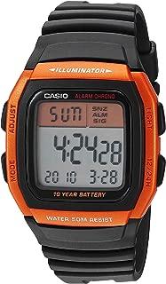 Men's Classic Quartz Resin Strap, Black, 24.5 Casual Watch (Model: W-96H-4A2VCF)