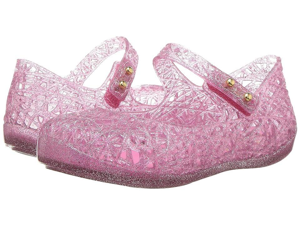Mini Melissa Mini Campana Zig Zag VI (Toddler) (Candy Pink Glitter) Girls Shoes
