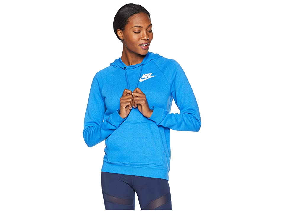 Nike Rally Hoodie (Signal Blue/Signal Blue/White) Women