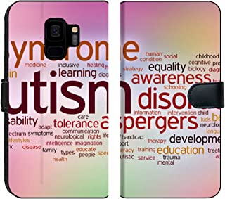 Luxlady Samsung Galaxy S9 Flip Fabric Wallet Case Image ID: 36070870 Disability Concept Word Cloud on a Blurred Background