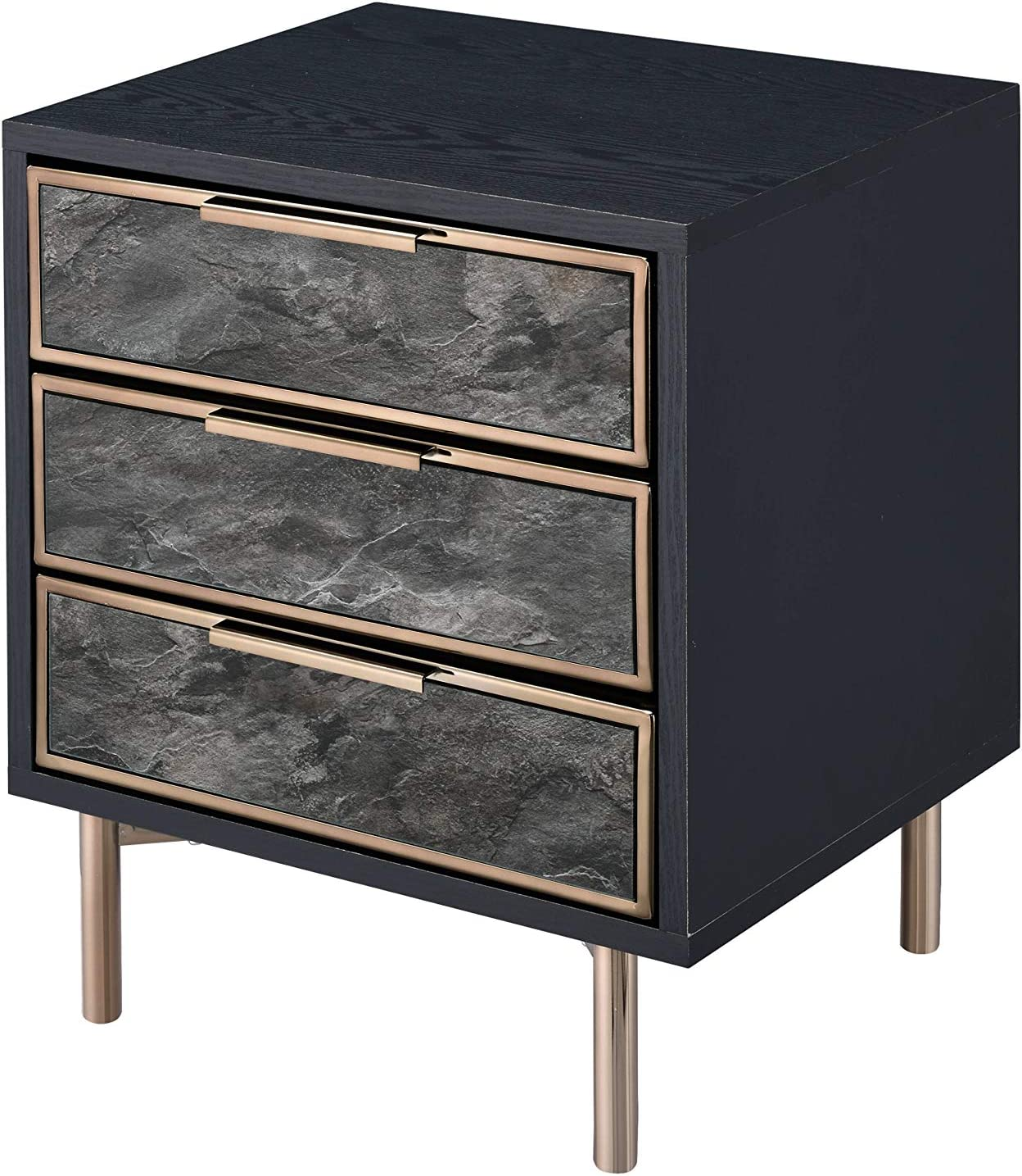 Acme Furniture Arbyrd Max 74% OFF Accent Black Champagne Sales Table