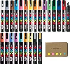 Uni Posca Paint Marker Pen PC-5M Medium Point 24 Color Ink, Sticky Notes Value Set