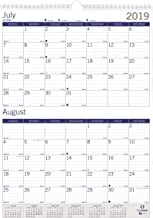 Blueline 2019-2020 DuraGlobe Academic Two-Month Wall Calendar, 13 Months, July 2019 to July 2020, 12 x 17 Inches (CA172203-20)