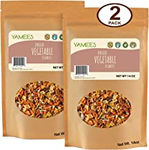 Yamees Dried Vegetable Flakes – Dehydrated Vegetables – Vegetable Soup Mix Blend - Bulk Spices – 2 Pack of 14 Ounce Each