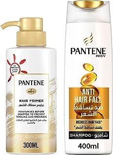 Pantene Pro-V Hair Primer Pre-Wash Detangler, 300ml + Anti-Hair Fall Shampoo, 400ml