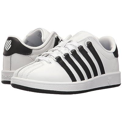 K-Swiss Classic VN (Little Kid) (White/Black/Black) Athletic Shoes