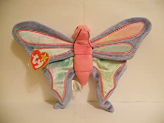 TY Beanie Babies Flitter the Butterfly - Periwinkle and Pink