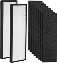 LINNIW 10x Replacement Kits - 2 Pack NEA-F1 True HEPA Filter + 8 Pack NEA-C1 Activated Carbon...