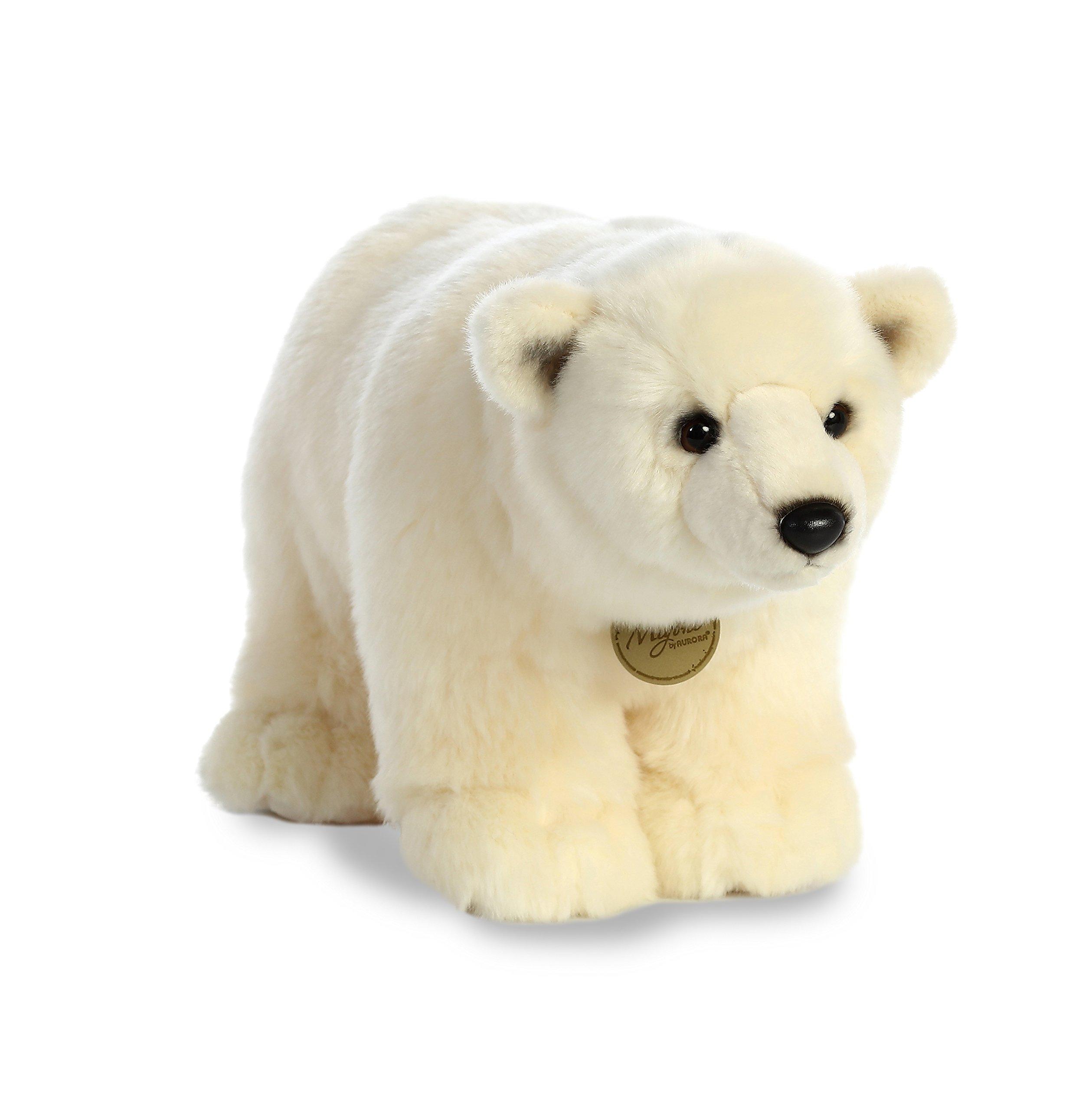 "Aurora World  16"" Polar Bear Standing, Off White"