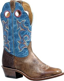 Men's Damasko Taupe Roughstock Cowboy Boot Square Toe - 4736