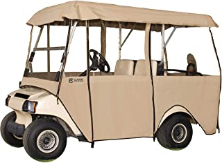 Classic Accessories Fairway Deluxe 4-Sided Golf Cart Enclosure for Club Car, Tan