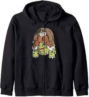 Gag Sloth Riding A Turtle Zip Hoodie