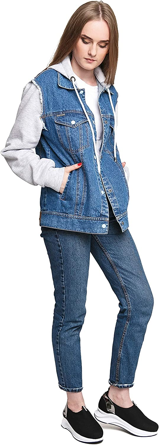 DASTI Women's Jeans Casual Jacket Stylish Womens Denim