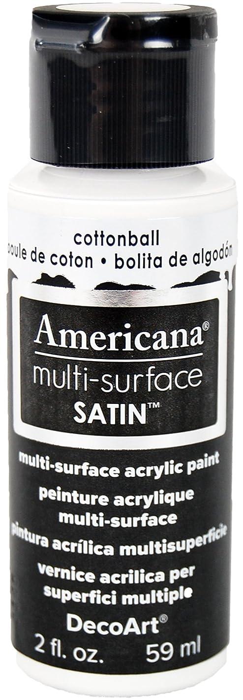 DecoArt Americana Multi-Surface Satin Acrylic Paint, 2-Ounce, Cotton Ball