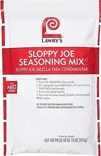 Lawrys Sloppy Joe Seasonings - 15 oz. pack, 6 packs per case