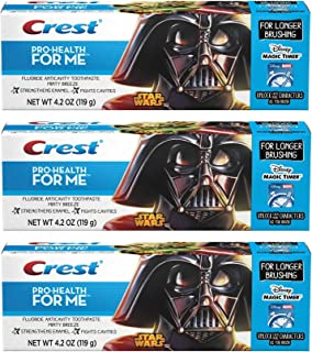 Crest Pro-Health JR. Star Wars, For Longer Brushing, Minty Breeze Toothpaste, 4.2 Oz. Pack of 3.