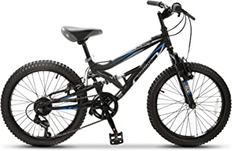 Murtisol Mountain Bike Commuter Hybrid Bike 20 inches Aluminum Road Bike with 18 Speeds Derailleur,Solid Frame,Adjustable Seat,Quick Release Racing