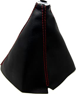 Tanaka PU Leather Shift Boot Universal for Manual/Auto Black Color with Red Stitching