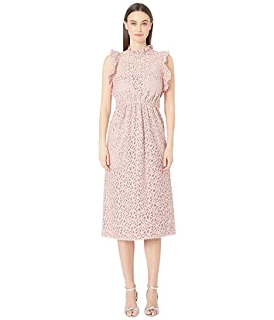 Kate Spade New York Floral Lace Ruffle Dress (Strawberry Mochi) Women