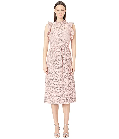 Kate Spade New York Floral Lace Ruffle Dress