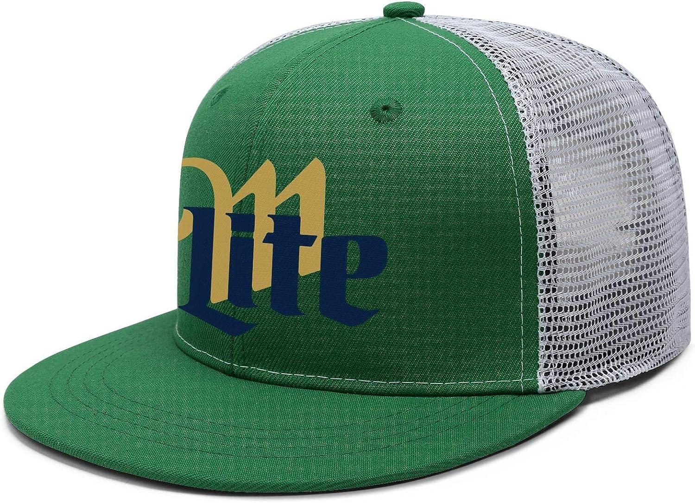 Unisex Baseball Cap Miller-Lite-Beer Comfortable Adjustable Ball Hat Trucker Hat