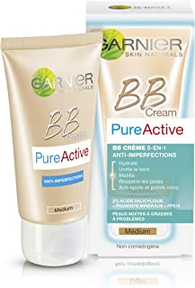 Garnier Pure - Activo - BB Cream Mediano - 5-en-1 Anti-imperfecciones