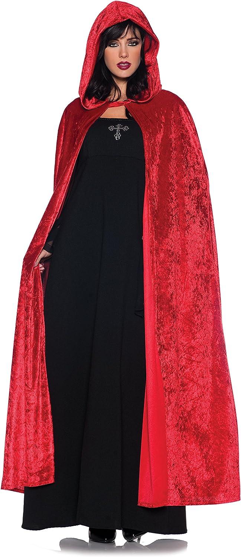 HOT Halloween Fancy Dress Hooded Velvet Cloak Robe Cape Costume Unisex Men Women