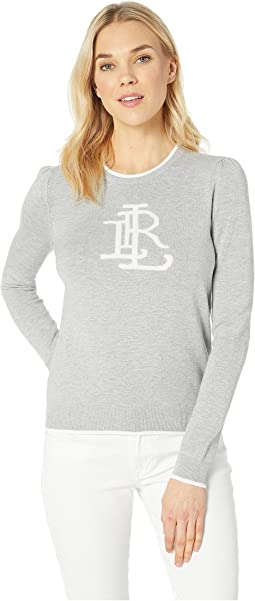Monogram Cotton-Blend Sweater