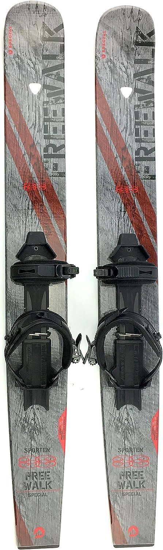 Sporten Free Walk Backcountry XC Skis with Skins Universal Bindings