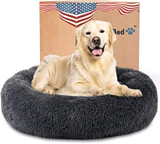 Calming Dog Bed for XX-Large Dogs - The Original Round Anxiety Orthopedic Donut Cuddler for Pets, Super Soft & Comfy Plush...