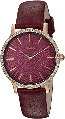 Timex - Metropolitan Starlight Leather Strap