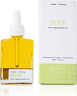 Naked + Thriving Prevent Anti-Aging Facial Oil - Organic, Vegan, All-Natural Skin Care & Face Oil (1.0 oz/30 mL)