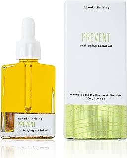 Naked + Thriving Prevent Anti-Aging Facial Oil - Organic, Vegan, All-Natural Skin Care & Face Oil (1.0 oz/30 mL)