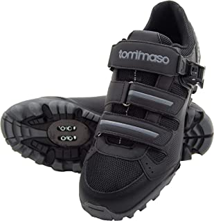 Tommaso Vertice 200 - Holiday Special Pricing - Men's All Mountain Vibram Sole Mountain Bike Shoes with Buckle