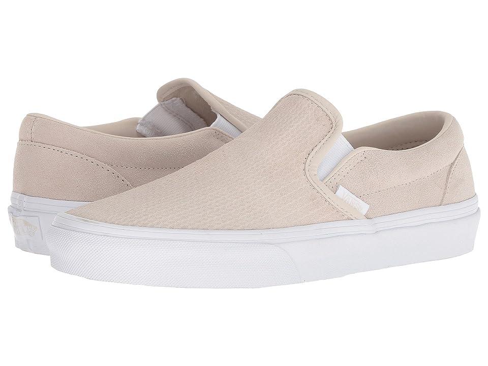 Vans Classic Slip-Ontm ((Suede) Moonbeam/Emboss) Skate Shoes