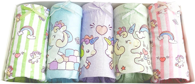 Suekoop Little Girls' Popular product Cotton Panties Baby Soft 5 ☆ popular Underwear Toddler