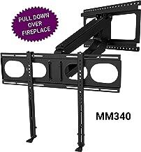 MantelMount MM340 - Above Fireplace Pull Down TV Mount (Renewed)