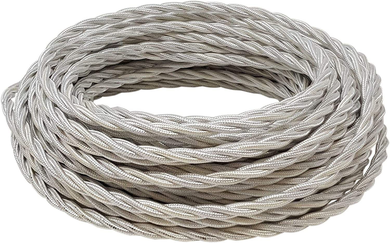 Kit de 5 metros de cable trenzado 3 x 0,75 15 aisladores de porcelana 18 mm