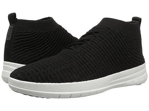 zapatillas cordones en sin Waffle Black altas Knit Uberknit FitFlop gxfqZ5Ow